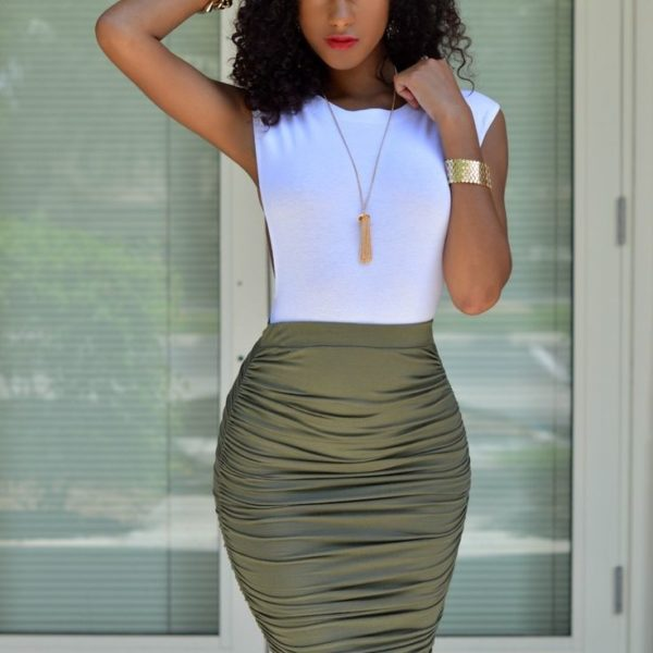 Cropped Tops & Midi/Pencil Skirts