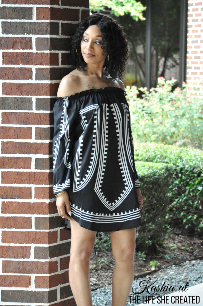 Black Off The Shoulder Short Dress