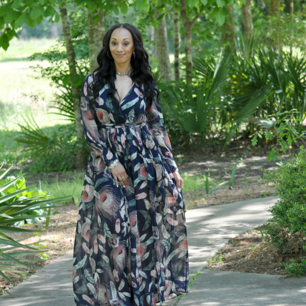 Brunch Date Navy Maxi Dress